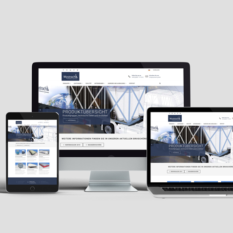Marketingkonzept Industriemarketing Responsive Webdesign Homepage