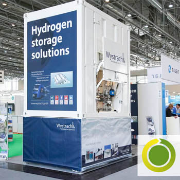 Marketingkonzept Industriemarketing Messe Energy Storage Messestand werben