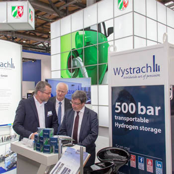 Marketingkonzept Industriemarketing Messe Energy Storage Messebetreuung Ministerbesuch